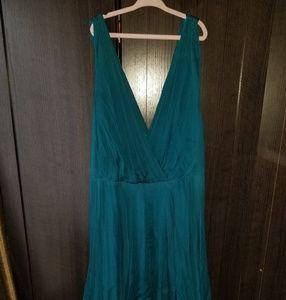 Rebecca Taylor gorgeous teal dress, 100 % silk